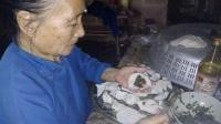 奶奶学包饺子