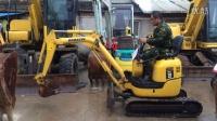 客户试驾二手小松10MR-2挖掘机视频-电话:13701813328 二手小松10小型挖掘机