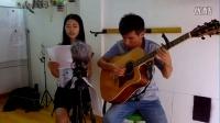 吉他弹唱《月亮代表我的心》从化吉他(钟惠君,方柏林)