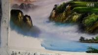 IKU 深林之雪风景油画刀画