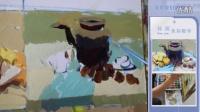 小色稿14  水壶 水果盘等组合范画视频   北京我们画室孙玥老师色彩静物