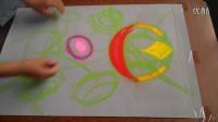 色彩构成装饰画色粉画创作《圆的旋律3》起稿过程记录跟李老师学画画