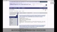Oxford Reports on International Law 使用指南 中文字幕