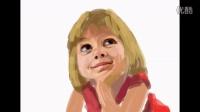 ipad画小女孩肖像