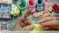 【小脚丫】(彩珠中筒靴10-12cm)(4)彩珠中筒靴毛线鞋的钩法毛线的钩法婴儿毛线鞋
