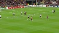 欧洲之王!梅西欧战五佳球(欧足联官方)曼联二度成背景