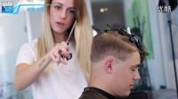 (托尼安凯)美女发型师打造男士帅气短发