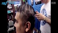(托尼安凯)国外发型师头发上雕刻蜘蛛侠超屌
