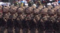 """抗战胜利70周年阅兵20150903夜袭阳明堡""""战斗模范连""""英模部队方队 高清"""