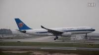 中国南方航空A330-200(B-6077)广州落地