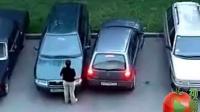 女人倒车停车位上很纠结_标清_标清