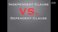 Independent & Dependent Clauses | 独立和依赖的条款