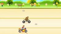 熊出没之雪岭熊风小游戏试玩  熊村举办摩托车大赛熊大勇夺第一