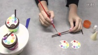 如何制作艺术家的调色板蛋糕