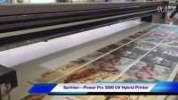 UV打印视频-绘迪POWER PRO 3200R卷板导带打印机打印柔性材料