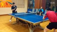 《巧遇湿父打乒乓球系列》第三集:湿父和网友正手攻球及反手拨球对练