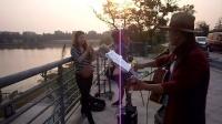 151015THU 流行歌曲 马帮少妇 吉他伴奏 TONY大叔 南京 仙林羊山公园  (4)