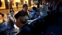 151018SUN 吉他弹唱 伴唱 老弟兄 路人 南京 中山路 艾尚天地广场 (5)