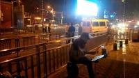 151021WED 吉他指弹练习 TONY大叔 南京 玄武门 地铁口广场  (2)