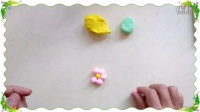 彩泥制作教学  小花   幼儿彩泥创意花卉类(1)