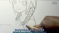 [中英字幕]Mark Crilley漫画教程107-辫子的画法[闻风听译]_高清