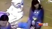幼儿园女教师将男童骑头压坐在胯下
