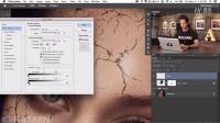 著名的Photoshop大师Phlearn为我们带来的高级PS免费教程-教你如何制作复杂的合成皮肤碎裂特效效果2