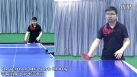 《全民学乒乓横拍篇》第13.2集:反手加转弧圈球全景示范_乒乓球教学视频
