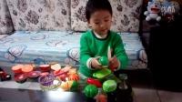 3岁水果切切乐&水果切切看玩具&过家家游戏&亲子游戏&肉肉视频切水果