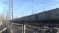 1月8日霸州    京九线    站北侧拍摄HXD3D0057牵引X111次