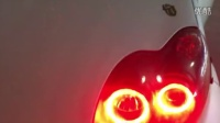 奇思改灯15382365181。比亚迪F0 改红色天使眼比亚迪大灯改装