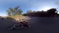 【360全景】酷帅拉风三轮骑行者