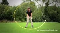 打起草皮 打痕的起始点决定能否干净扎实击球 Everyday GC wstgolf高尔夫教学视频