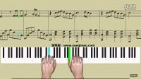 学琴屋《光辉岁月》简五谱 钢琴教学