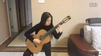 山西太原郭利民古典吉他工作室刘童妍练习朱利亚尼《弗利亚主题变奏曲》
