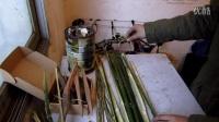 野外生存:竹子捕鱼陷阱捕鱼筒