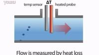 热式质量流量计工作原理动画