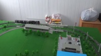 新入段的建设蒸汽机车牵引3节S12守车在外环铁路运行
