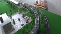 韶山3电力机车牵引5节C80敞车在线运行