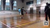 杜杜与退役国手训练慢动作1(启动步,马来步,蹬跨,二次启动,勾球,挑球)