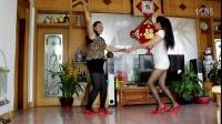 时光幸福广场舞  双人对跳 【姑娘你真美】 演示 彩苒、王一丹