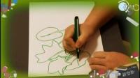 画菠菜的技巧,教小孩画画入门教学视频教程,乐成宝贝
