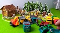 熊出没之熊心归来 熊大熊二光头强 熊出没之环球大冒险 工程车挖掘机工作 玩具车视频