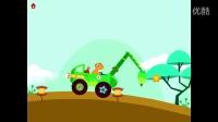 恐龙挖掘机05 三角龙岛上挖掘机挖宝藏视频表演