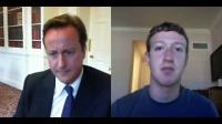 UK首相和 Facebook创始人Mark Zuckerberg视频通话