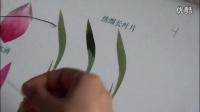 苏绣针法教程_平针绣细长叶子