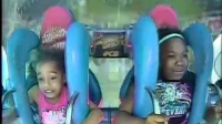 Two Girls Freak Out On Slingshot Ride