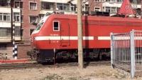 火车视频-兰局兰段SS7E 0042离开兰州机务段