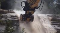 全新磨宝铣挖机MB-R700连接小松PC200挖掘机演示--澳大利亚