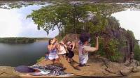 4K 360°全景拍摄 悬崖跳水视频)